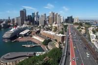 Sidnėjus nuo Harbour Bridge atramos