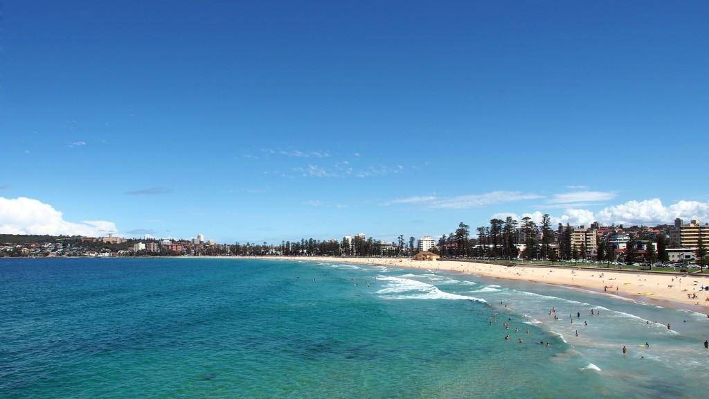 Bondi beach, populiariausias ir žymiausias Sidnėjaus paplūdimys